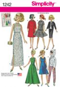 "1242 Simplicity Pattern: Vintage Doll Clothes for 29cm (11 1/2"") Doll"